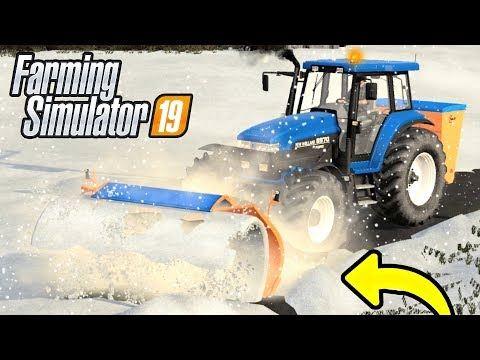 HEAVY SNOW! THE ROAD NEEDS CLEARING! FS19 (Oakfield Ep 1)