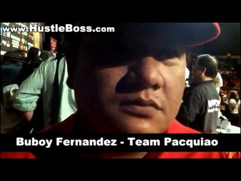 Buboy Fernandez speaks on Pacquiao-Marquez IV and his friendship with Manny