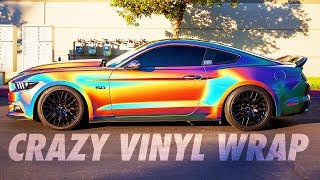 CAR WRAPS, REV BATTLE & CRAZY MUSTANG BURNOUT! | VLOG