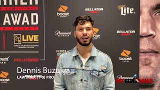 Dennis Buzukja calls out James Gallagher after his TKO Victory At Bellator 208 on Long Island, NY