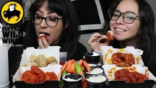 BUFFALO WILD WINGS MUKBANG | EATING SHOW | SPICY WINGS