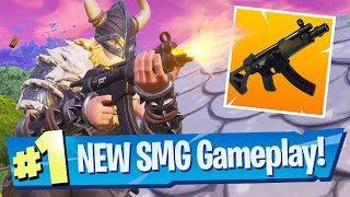 NEW SMG Submachine Gun Gameplay - Fortnite Battle Royale