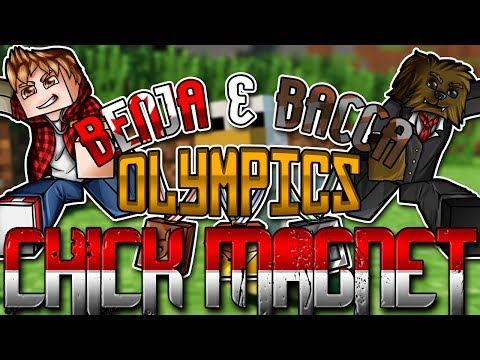 Minecraft Benja and Bacca Olympics: Chick Magnet (Challenge #9)