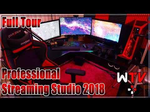 Professional Recording Studio 2018 FULL TOUR - Twitch and YouTube Live Streaming
