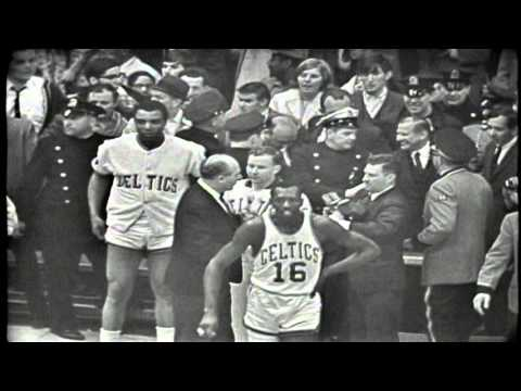 Red Auerbach Celebrates After His Last Game – April 28th, 1966