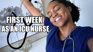 MY FIRST WEEK AS A NEW NURSE  IN THE ICU VLOG | Luchi Loyale