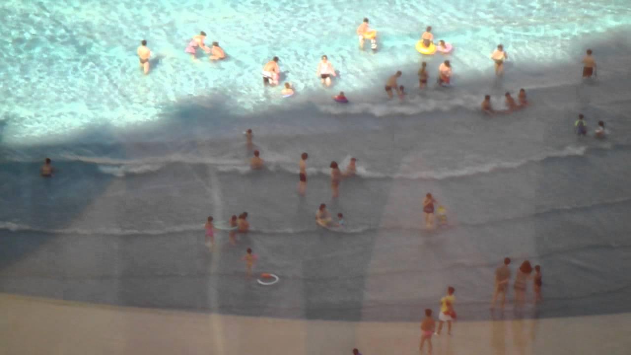 Galaxy Hotel Macau Wave Pool And Beach Youtube