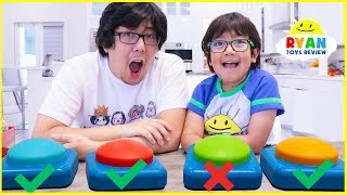 Don'ts Push the Wrong Button Challenge with Ryan and Daddy!