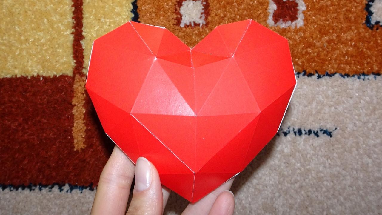 Подарок сердце из бумаги 204