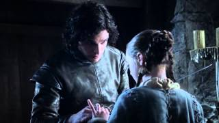 Game of Thrones S01S02 - Jon gives Arya a present