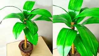 How to make artificial leaf plant for home decoration