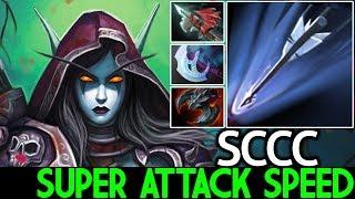 SCCC [Drow Ranger] Super Attack Speed Crazy Arrow Damage 7.21 Dota 2