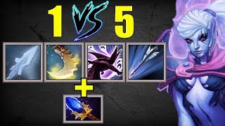 Right Click 1 vs 5 Ultimate Carry Vengeful | Dota 2 Ability Draft