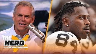 Colin and Greg Jennings react to news that Raiders plan to suspend Antonio Brown | NFL | THE HERD