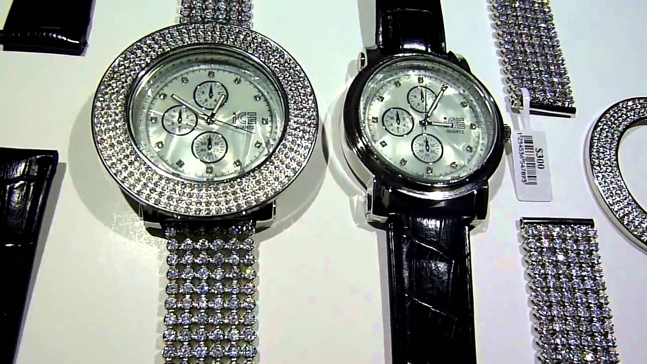 Sold 149 customizable breitling style watch wear it iced out or regular lab made diamond for Watches rappers wear