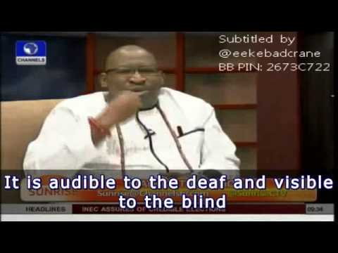 Hon. Patrick Obahiagbon Speaks About The Rivers State Crisis(subtitled Version) video