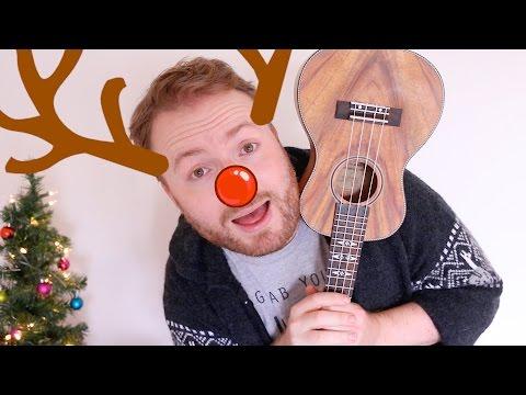RUDOLPH THE RED-NOSED REINDEER (FUN CHRISTMAS UKULELE TUTORIAL!)