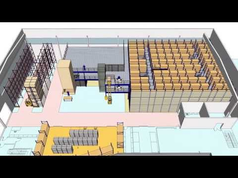 Diseño de almacén de repuestos y mantenimiento