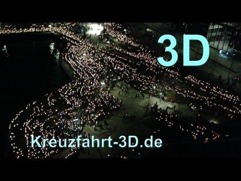 3D-Video: Abendsegen und Lichtermeer beim 34. Evangelischer Kirchentag Hamburg (01.05.2013)