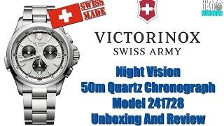 Hello Mr. Bond! | Victorinox Swiss Army Night Vision 50m Quartz Chronograph 241728 Unbox & Review