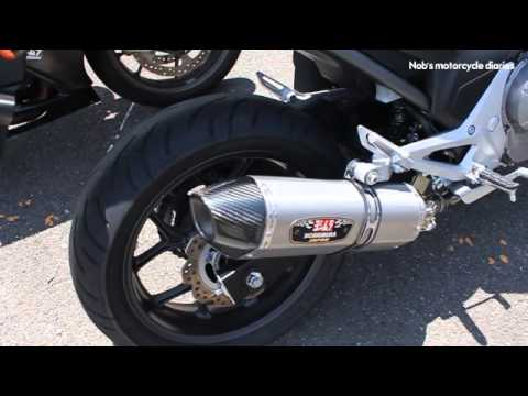 NC700X ヨシムラ(YOSHIMURA) R-77J Cyclone Slip-On Muffler Sound