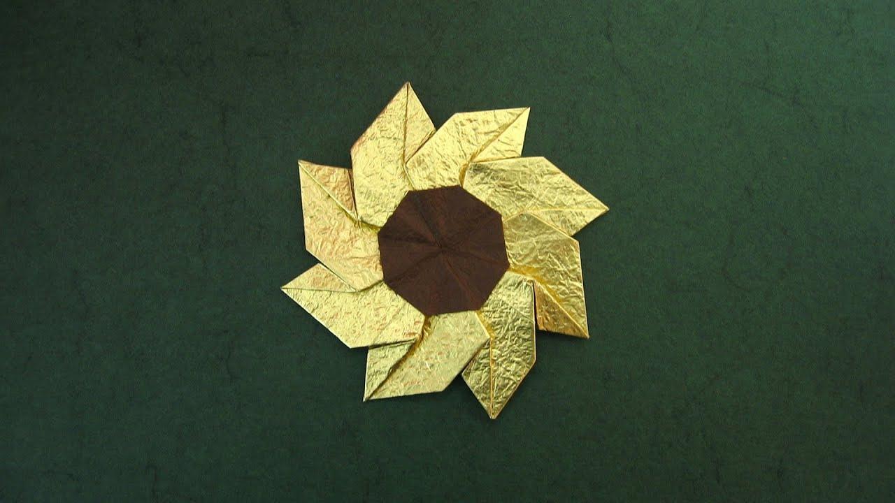 origami instructions  flower gaillardia  meenakshi mukerji