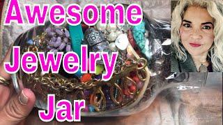 Jewelry Jar Yes! I Found Treasure Vintage Monet, Real Silver, & Jade Earrings!