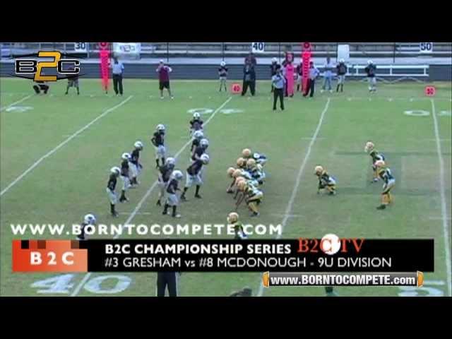 B2C: #3 Gresham Park Rattlers vs #8 Mcdonough Cougars - 2012 B2C Championship Series - 9U Division