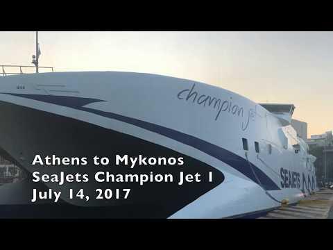 Ferry Report: Athens to Mykonos - SeaJets Champion Jet 1