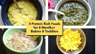 4 Protein Rich Foods for 8 Months+ Babies & Toddlers| Protein-Rich Lunch Ideas for 8 months+ Babies