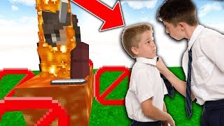 KID SENT ME TO TROLL HIS HIGHSCHOOL BULLY ON MINECRAFT!!