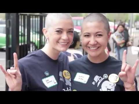 haircut and headshave on two beauties