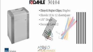 Dahle 30104 Strip Cut Paper Shredder - Tour