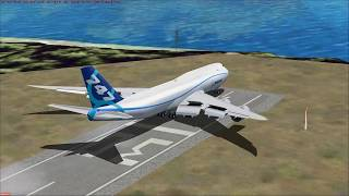 Big Planes On World's Shortest Runway! [FSX]