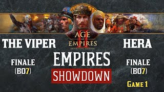 #1 AoE 2 : DE - EMPIRES SHOWDOWN - GRANDE FINALE - THE VIPER vs HERA - MAP ARABIA
