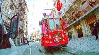 Nostalgic Tram - Taksim Free Stock Video HD