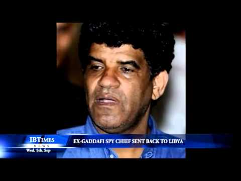 Ex-Gaddafi spy chief sent back to Libya