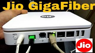 JIO Giga Fiber Router unboxing | speed test | preview offer | Hk tech