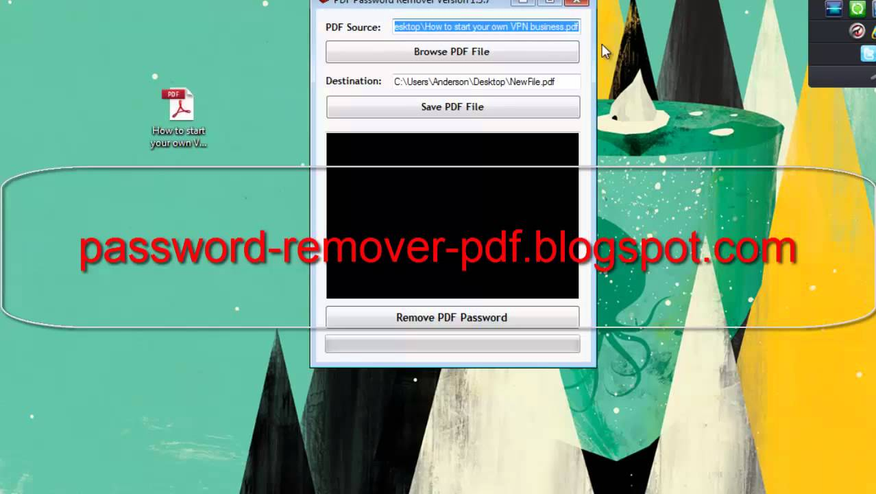 how to remove pdf password if i know it