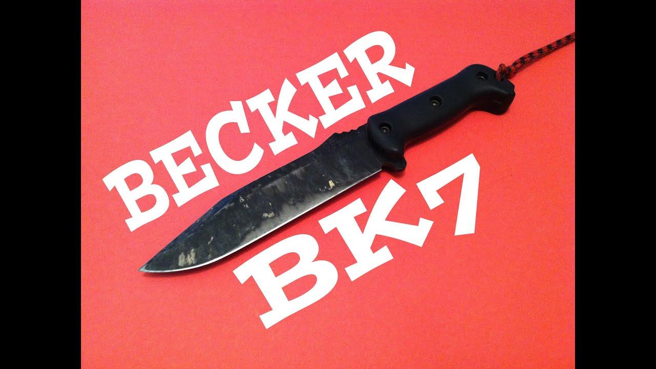 Ka bar becker bk7 field test amp knife review youtube