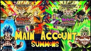 FIRE! Main Account Gogeta and Broly Summons | Dragon Ball Z Dokkan Battle Global