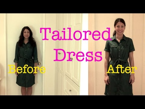 Tailored Dress Before and After