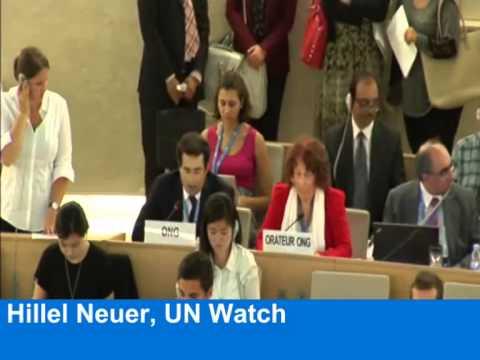 U.N. Debate: Hillel Neuer calls out Hamas for war crimes