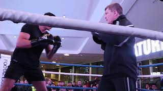 FURY POWER! TYSON'S BROTHER - DEBUTANT TOMMY FURY SHOWS INSANE POWER & SPEED ON PADS w/ RICKY HATTON
