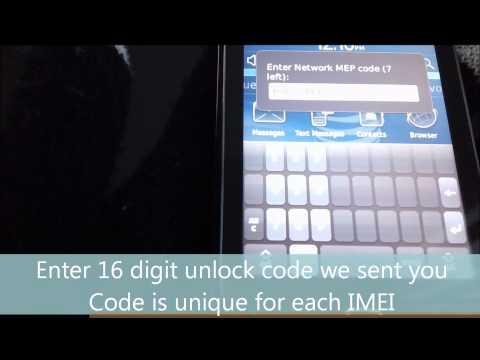 Blackberry Torch 9800 Unlock Code