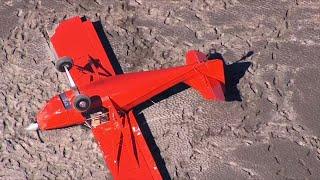 Small Plane Crashes On Columbia River Sandbar