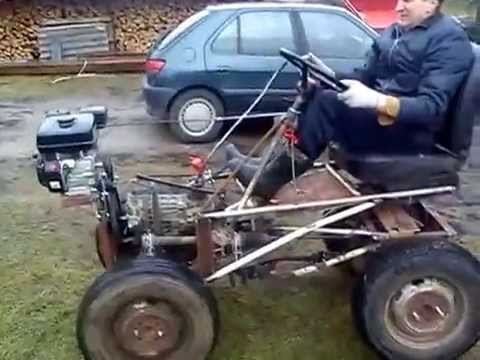 Homemade mini tractor, Lithuania (part 2)