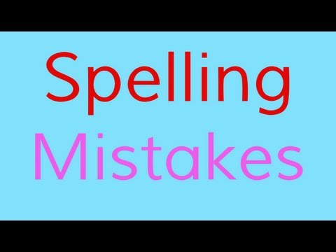 The Spelling Mistakes Song