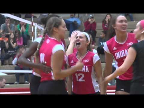 IU Volleyball Highlights vs. Purdue