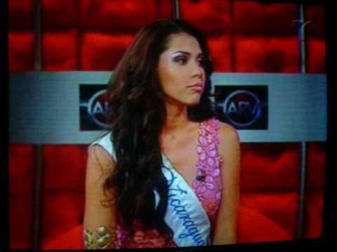 Indiana Sanchez [ Miss Nicaragua 2009] en Al Rojo Vivo.